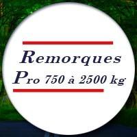 Remorques PRO de 750 à 2500kg